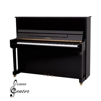 پیانو آکوستیک FEURICH 122 – UNIVERSAL Black Polished - Brass