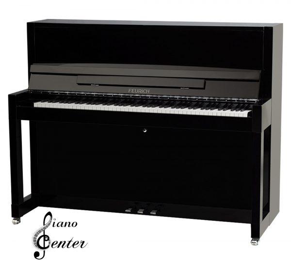 پیانو آکوستیک FEURICH 115 – PREMIERE Black Polished - Chrome