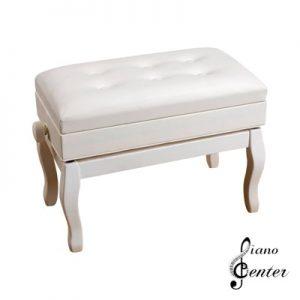 صندلی پیانو 6 لمسه باکس دار سفید