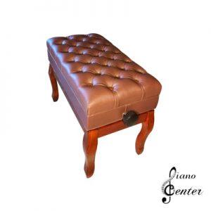 صندلی پیانو پر لمسه باکس دار شکلاتی