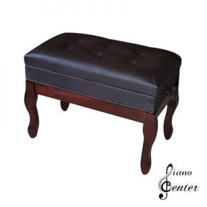 صندلی پیانو 6 لمسه باکس دار قهوه ای