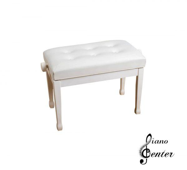 صندلی پیانو 6 لمسه سفید